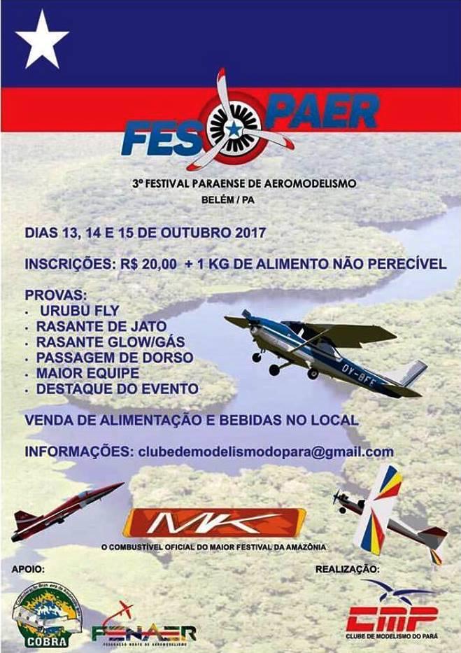 3º FESPAER Festival Paraense de Aeromodelismo - Belem-PA   AeroJota  Classificados Aeronáutico. a698285898